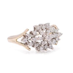 Yellow Gold Diamond Mens Ring Size 6.25