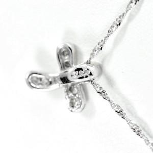 Diamond Cross - Clover 0.33CT 14K White Gold 1.5gr