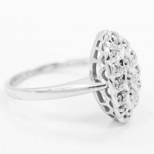 White White Gold Diamond Womens Ring Size 7.5