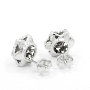 White White Gold Diamond Womens Earrings