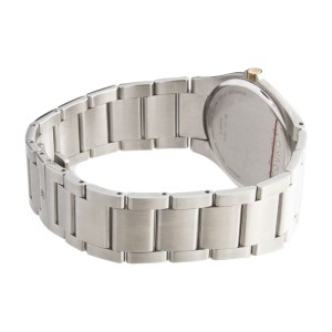 Movado Black Dial Gold-tone Bezel Silver-Tone Bracelet Mens Watch