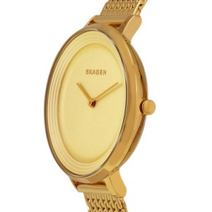 Skagen SKW2333 Gold Dial Gold Tone Stainless Womens Watch