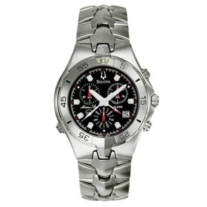 feae859cf Bulova Marine Star 96C18 Black Dial Stainless Steel Bracelet Mens Watch |  Bulova | Buy at TrueFacet