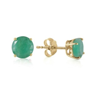 0.95 CTW 14K Solid Gold Spring Doesn't Fade Emerald Earrings