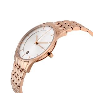Skagen SKW2388 Holst Silver Dial Rose Gold Stainless Steel Women's Watch