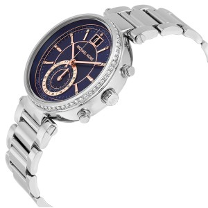 Michael Kors MK6224 Sawyer Blue Dial Stainless Steel Chronograph Womens Watch