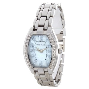 Anne Klein 10/9839MPSV Stainless Steel & Mother Of Pearl 27mm Watch
