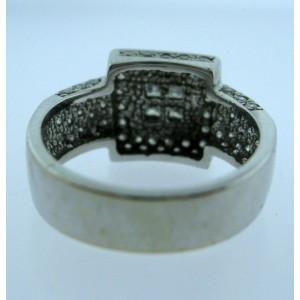 White White Gold Diamond Womens Ring Size 7