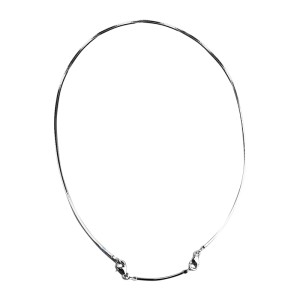 Baccarat Sterling Silver Squared Omega Chain Necklace
