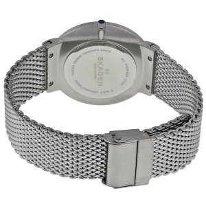 Skagen SKW6164 Ancher Blue Dial Stainless Steel Mesh Mens Watch