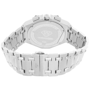 Aqua Master W#356_3 Black Dial Stainless Steel Bracelet Diamond Mens Watch
