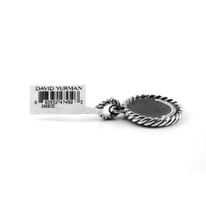 "David Yurman 925 Sterling Silver Initial ""E"" Round Pendant"