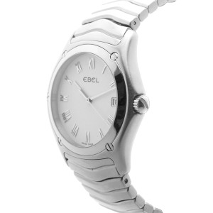 Ebel Classic Wave E9187F41 Swiss White Dial Stainless Steel Quartz 37mm Womens Watch