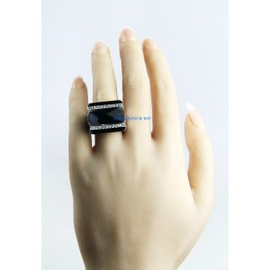 Silver Diamond Womens Ring Size 5.5