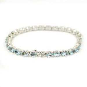 H. Stern 18k White Gold Aquamarine Womens Bracelet
