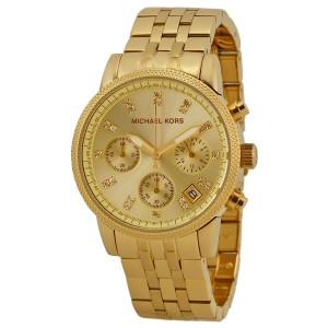 Michael Kors Ritz MK5676 Gold Tone Stainless Steel 36mm Womens Watch