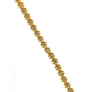 Yellow Gold Diamond Mens Bracelet