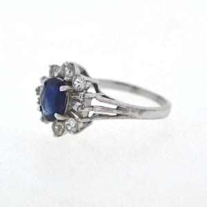 White White Gold Sapphire, Diamond Womens Ring