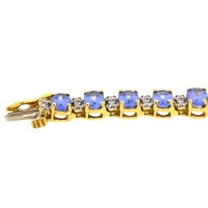 Yellow Gold Tanzanite, Diamond Womens Bracelet
