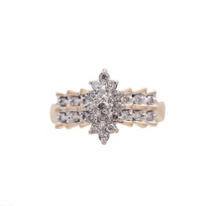14K Yellow Gold 0.75Ct N SI2 Diamond Ring 2.8 GR Size 7.5