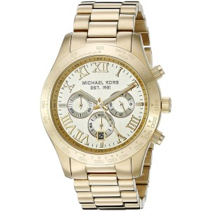 Michael Kors MK8214 Gold Tone Stainless Steel with Champange Dial 45mm Mens Watch