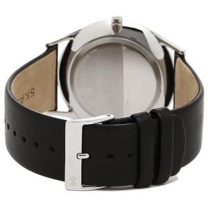 Skagen SKW6220 Black Dial Black Leather Strap 40mm Mens Watch