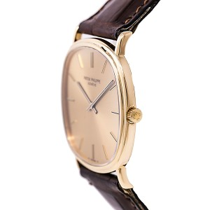Patek Philippe 3862 18K Yellow Gold Gold Dial Vintage 32mm Mens Watch