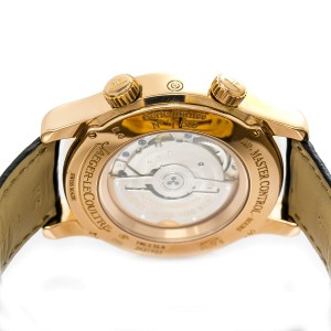 Jaeger LeCoultre Master World 146.2.32.S 18K Rose Gold & Leather Automatic 42mm Mens Watch