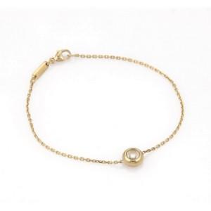 Chopard Happy Diamond 18K Yellow Gold Round Charm Chain Bracelet