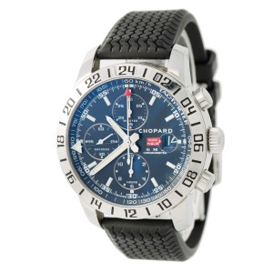bf7059d49a7d3 Chopard Mille Miglia GMT 8992 Stainless Steel & Rubber Black Dial Automatic  42mm Mens Watch | Chopard | Buy at TrueFacet