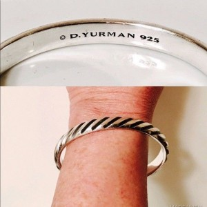David Yurman Sterling Silver Cable Cuff Bracelet