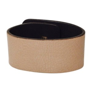 Gucci 1973 Gold Tone Hardware and Leather Cuff Bracelet