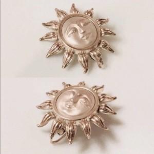Tiffany & Co. Sterling Silver Sun Brooch