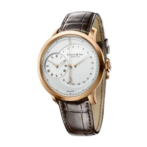 Arnold & Son TBR 1ARAP.W01A.C120P Mens Automatic Watch Rose Gold White Dial 44MM