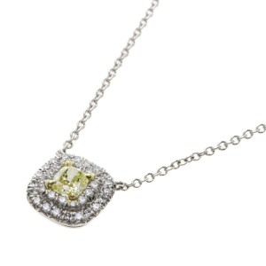 Tiffany & Co. 18K Yellow Gold and PT950 Platinum with Diamond Necklace