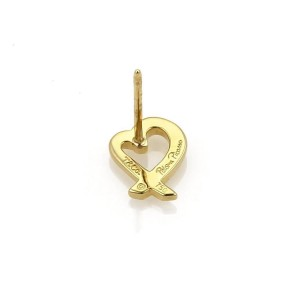 Tiffany & Co. Picasso 18K Yellow Gold Loving Heart Stud Earrings