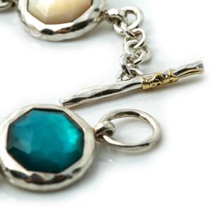 """IPPOLITA Sterling Silver 925 WONDERLAND 5 Multi Gemstones Rock Candy Bracelet 7"""""""