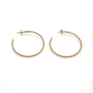 Tiffany & Co. 18K Yellow Gold Twisted Wire Hoop Earrings