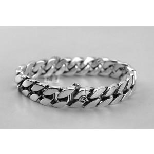 David Yurman 925 Sterling Silver Curb Chain Bracelet