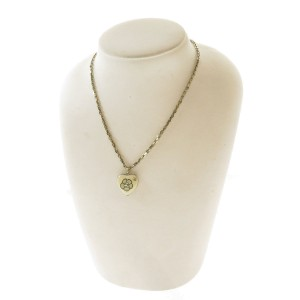 Chanel Gold Tone Hardware Heart Necklace