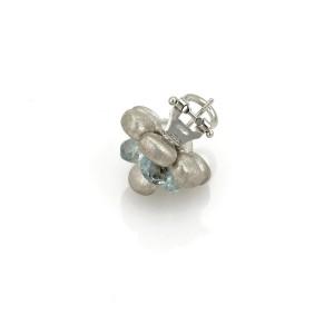 Marco Bicego Blue 18K White Gold Topaz Earrings