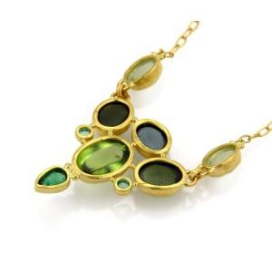 Gurhan 24k 24K Yellow Gold Tourmaline, Emerald, Peridot Pendant