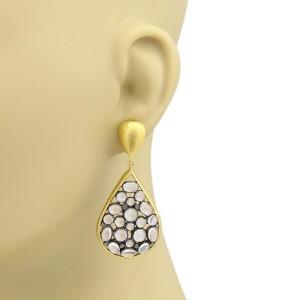 Gurhan Venus 24K Yellow Gold, Sterling Silver Moonstone Earrings