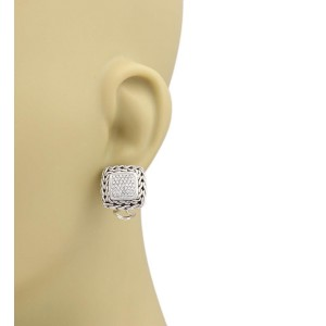 John Hardy 925 Sterling Silver 0.50ctw Diamond Earrings