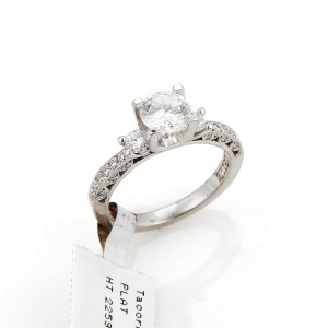 Tacori Platinum Platinum Diamond Engagement Ring Size 6.5