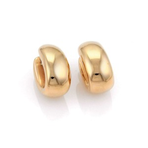 Roberto Coin Puffed 18K Rose Gold Earrings