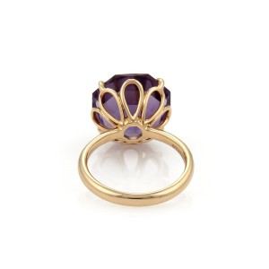 Tiffany & Co. Sparklers 18K Rose Gold Amethyst Ring Size 7
