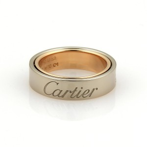 Cartier Love 8K White Gold Ring Size 6