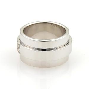 Asprey Keria 18K White Gold Diamond Ring Size 8
