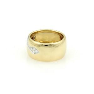 Pomellato 18k 18K Yellow Gold Diamond Ring Size 6.5